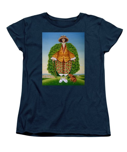 The New Vestments Ivor Cutler As Character In Edward Lear Poem, 1994 Oils And Tempera On Panel Women's T-Shirt (Standard Cut) by Frances Broomfield