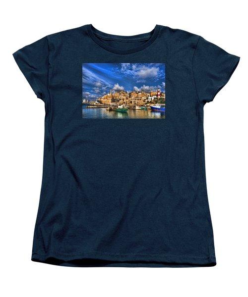 the old Jaffa port Women's T-Shirt (Standard Cut) by Ron Shoshani