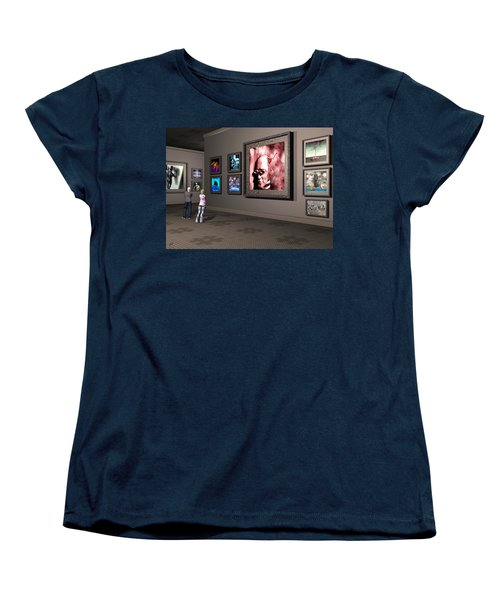 Women's T-Shirt (Standard Cut) featuring the digital art The Old Museum by John Alexander