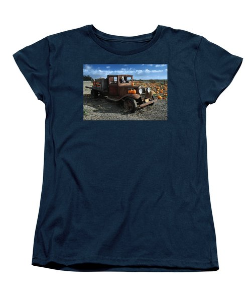 Women's T-Shirt (Standard Cut) featuring the photograph The Old Pumpkin Patch by Michael Gordon