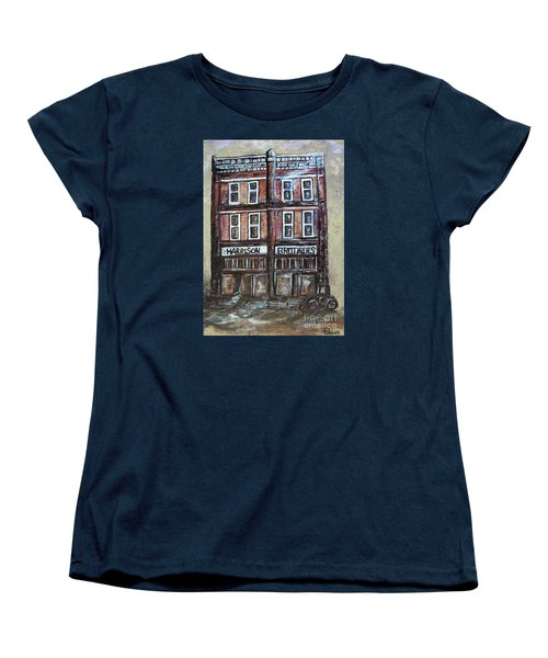 Women's T-Shirt (Standard Cut) featuring the painting The Old Store by Eloise Schneider