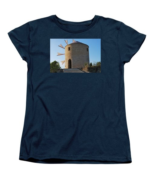 The Old Windmill 1830 Women's T-Shirt (Standard Cut) by George Katechis