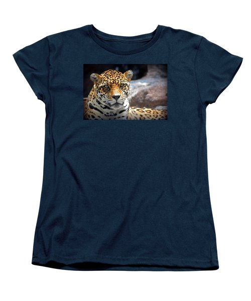 Women's T-Shirt (Standard Cut) featuring the photograph The Ole Leopard Don't Change His Spots by Lynn Sprowl