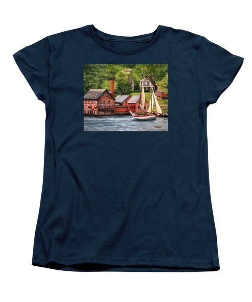 The Paint Factory And The Ardelle Women's T-Shirt (Standard Cut) by Eileen Patten Oliver