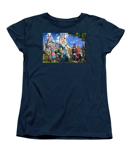 Women's T-Shirt (Standard Cut) featuring the painting The Palace Garden  by Reynold Jay