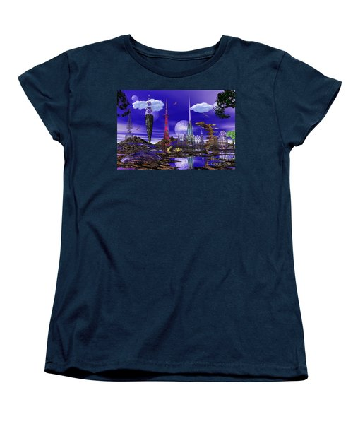 Women's T-Shirt (Standard Cut) featuring the photograph The Palace Of Prax by Mark Blauhoefer