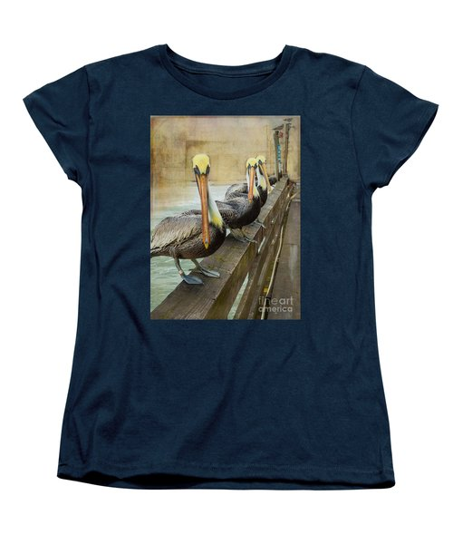 The Pelican Gang Women's T-Shirt (Standard Cut) by Steven Reed