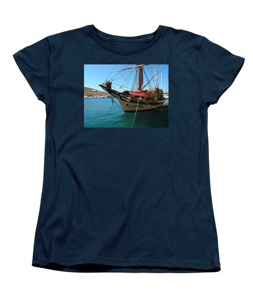 Women's T-Shirt (Standard Cut) featuring the photograph The Pirate Ship  by Micki Findlay