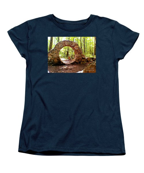 The Portal To Love Life Peace Women's T-Shirt (Standard Cut) by Becky Lupe