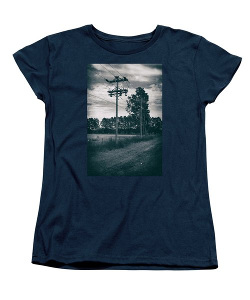 The Power Lines  Women's T-Shirt (Standard Cut) by Howard Salmon