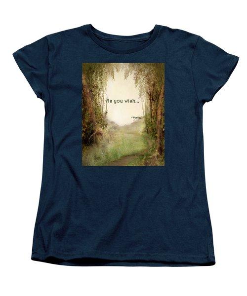 The Princess Bride - As You Wish Women's T-Shirt (Standard Cut) by Paulette B Wright
