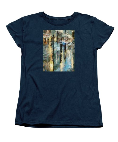 Women's T-Shirt (Standard Cut) featuring the painting The Rain In Paris by Dragica  Micki Fortuna