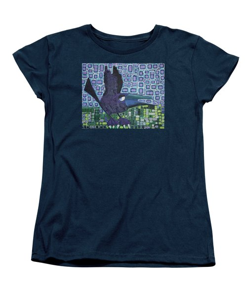 Women's T-Shirt (Standard Cut) featuring the painting The Raven by Donna Howard
