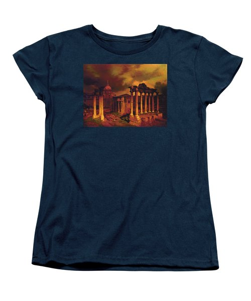 The Roman Forum Women's T-Shirt (Standard Cut) by Blue Sky