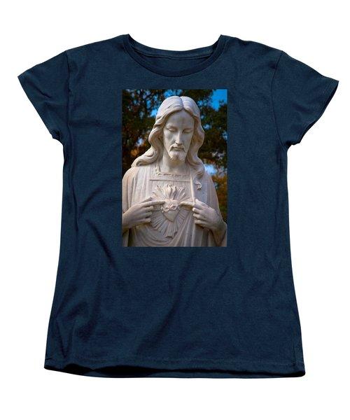 The Sacred Heart Women's T-Shirt (Standard Cut) by Linda Unger
