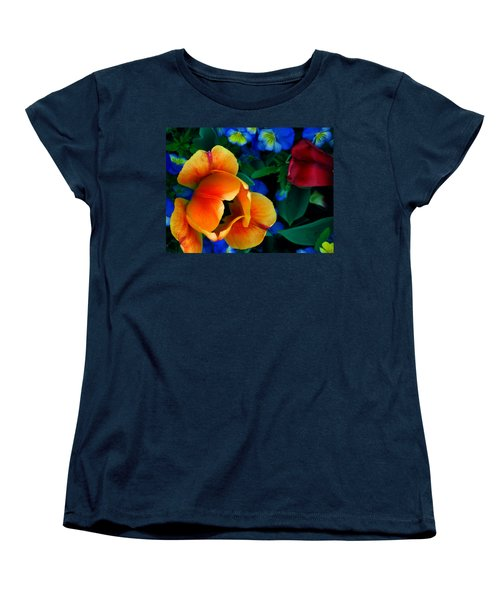 Women's T-Shirt (Standard Cut) featuring the photograph The Secret Life Of Tulips by Rory Sagner