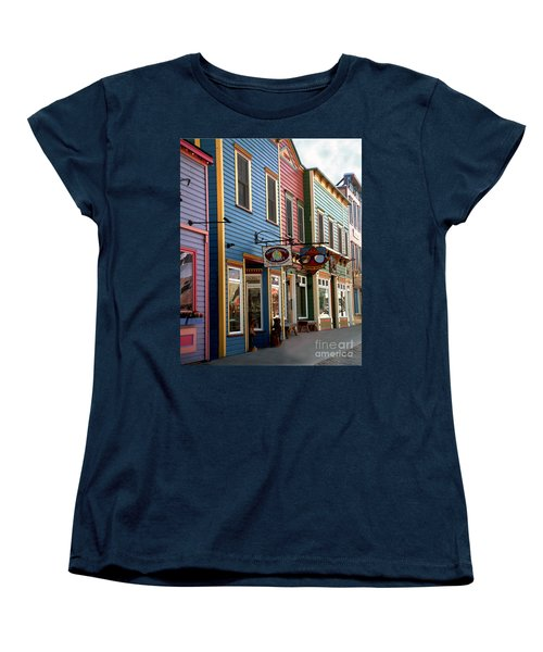 The Shops In Crested Butte Women's T-Shirt (Standard Cut) by RC DeWinter
