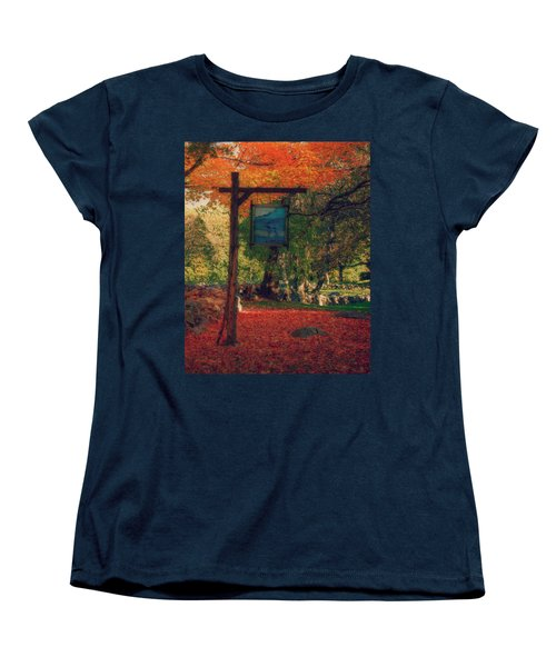 Women's T-Shirt (Standard Cut) featuring the photograph The Sign Of Fall Colors by Jeff Folger