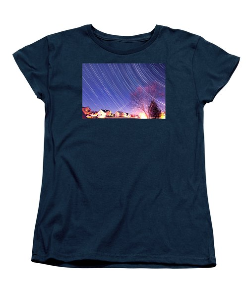 The Star Trails Women's T-Shirt (Standard Cut) by Paul Ge