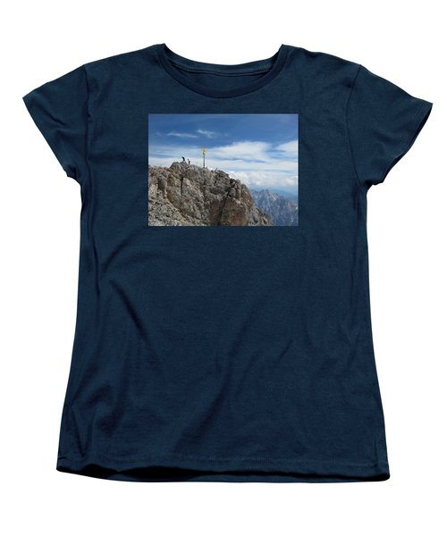 Women's T-Shirt (Standard Cut) featuring the photograph The Summit by Pema Hou