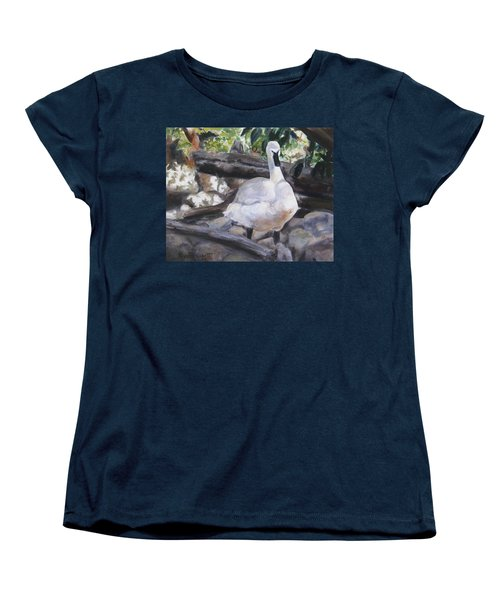 The Swan Women's T-Shirt (Standard Cut) by Lori Brackett