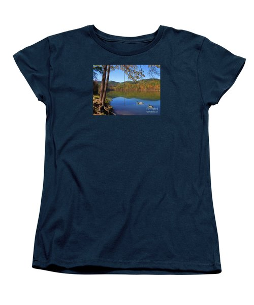 The Swimming Hole Women's T-Shirt (Standard Cut) by Lena Auxier