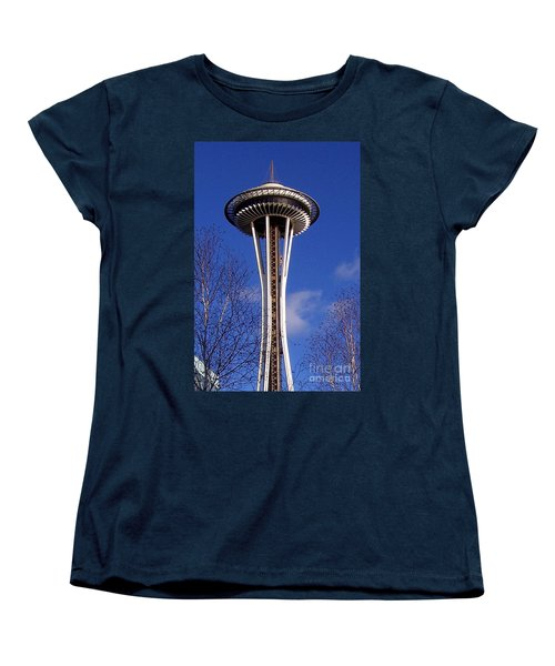 Women's T-Shirt (Standard Cut) featuring the photograph The Symbol Of Seattle by Kathy  White