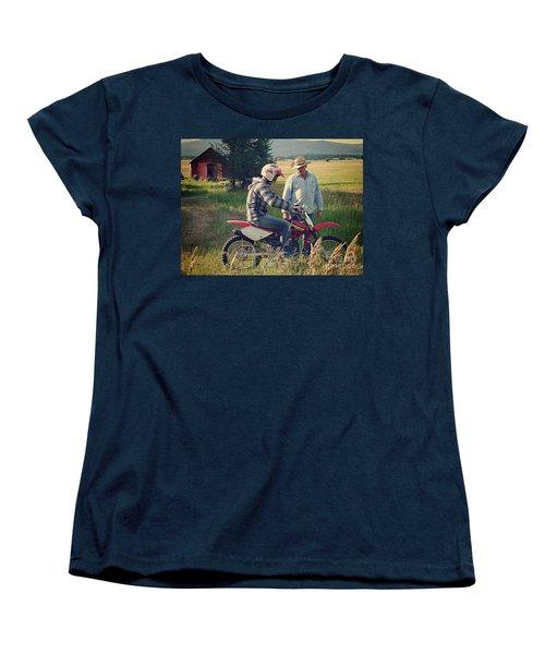 Women's T-Shirt (Standard Cut) featuring the photograph The Teacher by Meghan at FireBonnet Art