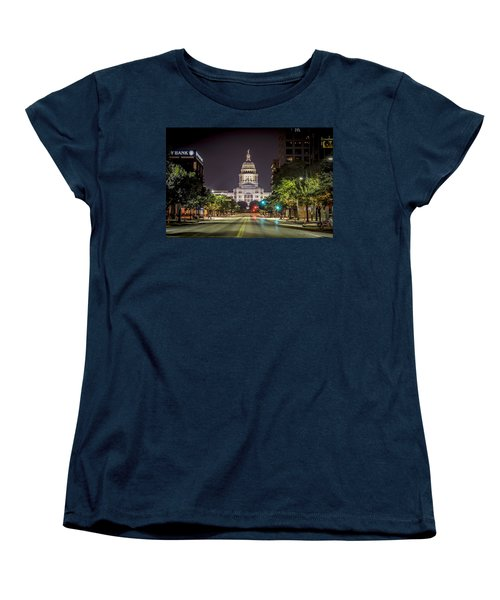 The Texas Capitol Building Women's T-Shirt (Standard Cut) by David Morefield