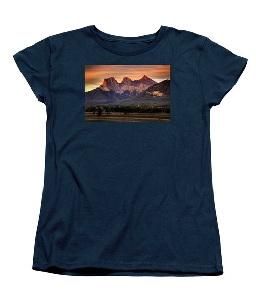 The Three Sisters Canmore Women's T-Shirt (Standard Cut) by Diane Dugas