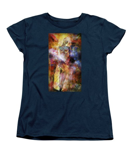 Women's T-Shirt (Standard Cut) featuring the mixed media The Touch by Ally  White