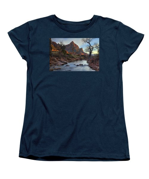 The Watchman In Winter-2 Women's T-Shirt (Standard Cut) by Alan Vance Ley