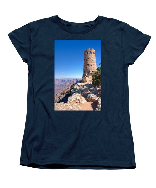 Women's T-Shirt (Standard Cut) featuring the photograph The Watchtower by John M Bailey