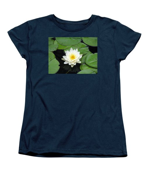 Women's T-Shirt (Standard Cut) featuring the photograph The Water Lilies Collection - 01 by Pamela Critchlow