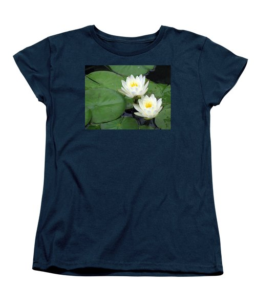 Women's T-Shirt (Standard Cut) featuring the photograph The Water Lilies Collection - 06 by Pamela Critchlow