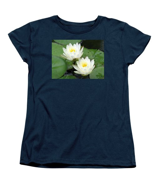 Women's T-Shirt (Standard Cut) featuring the photograph The Water Lilies Collection - 08 by Pamela Critchlow