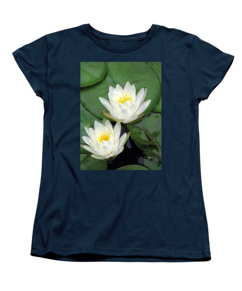 Women's T-Shirt (Standard Cut) featuring the photograph The Water Lilies Collection - 12 by Pamela Critchlow