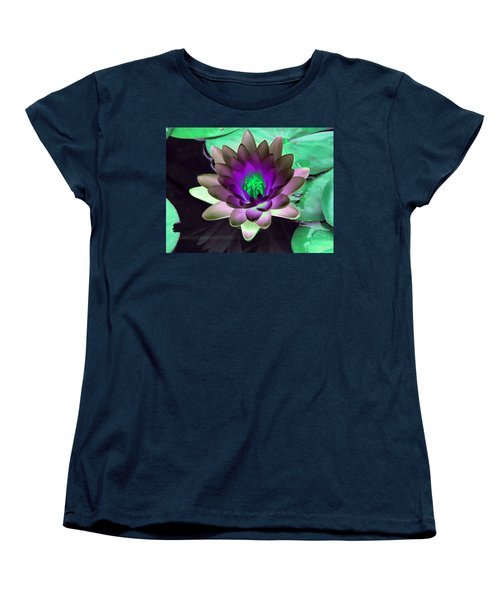 Women's T-Shirt (Standard Cut) featuring the photograph The Water Lilies Collection - Photopower 1114 by Pamela Critchlow