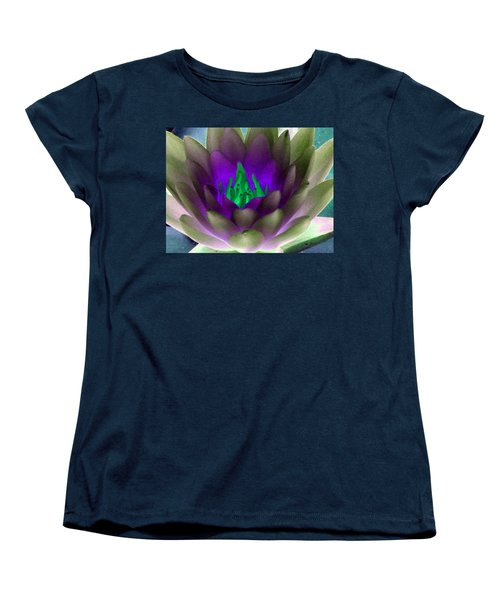 Women's T-Shirt (Standard Cut) featuring the photograph The Water Lilies Collection - Photopower 1117 by Pamela Critchlow