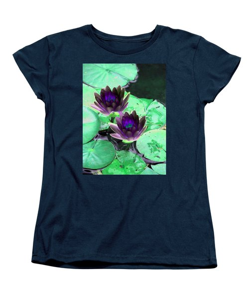 Women's T-Shirt (Standard Cut) featuring the photograph The Water Lilies Collection - Photopower 1119 by Pamela Critchlow
