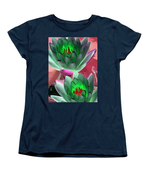Women's T-Shirt (Standard Cut) featuring the photograph The Water Lilies Collection - Photopower 1121 by Pamela Critchlow