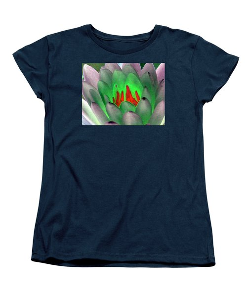 Women's T-Shirt (Standard Cut) featuring the photograph The Water Lilies Collection - Photopower 1123 by Pamela Critchlow