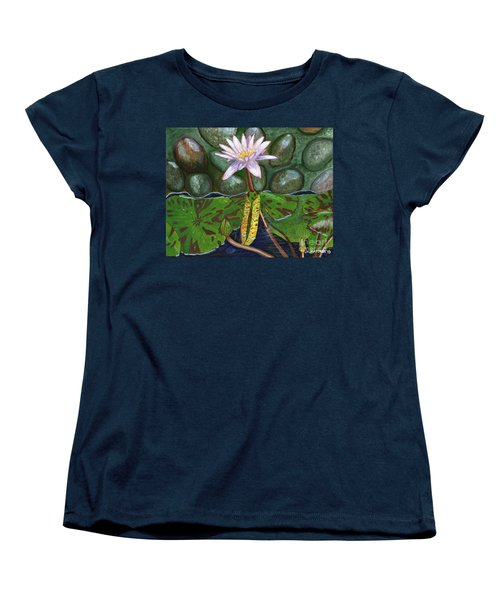 Women's T-Shirt (Standard Cut) featuring the painting The Waterlily by Laura Forde