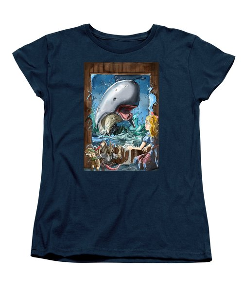 Women's T-Shirt (Standard Cut) featuring the painting The Whale by Reynold Jay