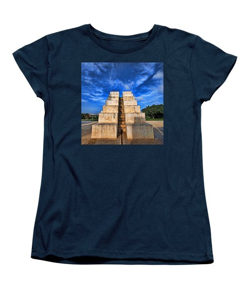 Women's T-Shirt (Standard Cut) featuring the photograph The White City by Ron Shoshani