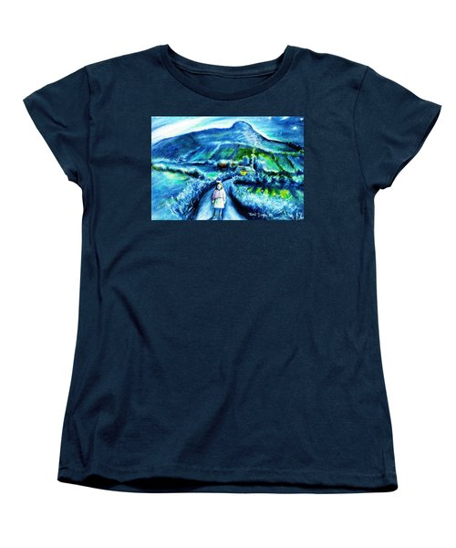 The White Ribbon - Eagle Hill  Women's T-Shirt (Standard Cut) by Trudi Doyle