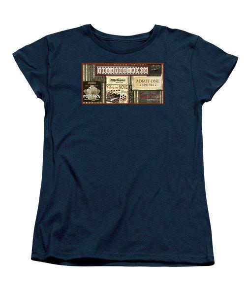 Theatre Room Women's T-Shirt (Standard Cut) by Jean Plout