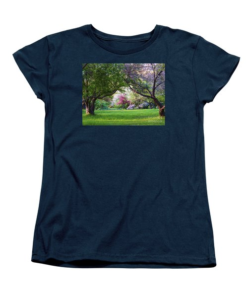 Women's T-Shirt (Standard Cut) featuring the photograph There Is No Place Like Spring by Judy Via-Wolff