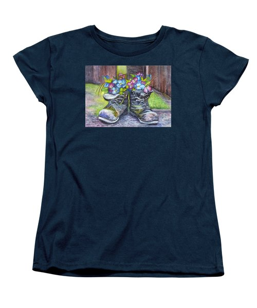 These Boots Were Made For Planting Women's T-Shirt (Standard Cut) by Carol Wisniewski
