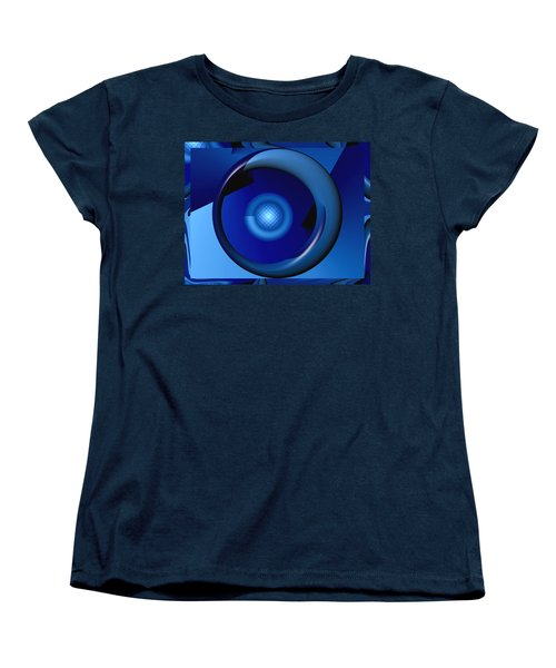 Thinking Of Blue Women's T-Shirt (Standard Cut) by Wendy J St Christopher